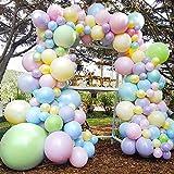 MMTX Luftballons Girlande kit,106 Stück Hochzeits dekoration Ballon Set mit Doppelschichtiger Latexballon,Ballonkette,Partyballon für Geburtstag,Hochzeit,Jubiläum,Gartenparty Dekoration