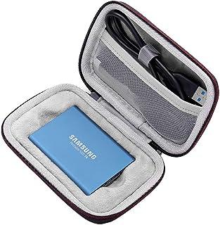 キャリングケース サムスン T1 T3 T5 ポータブル 250GB 500GB 1TB 2TB SSD USB 3.1 外付けソリッドステートドライブストレージトラベルバッグと互換性あり