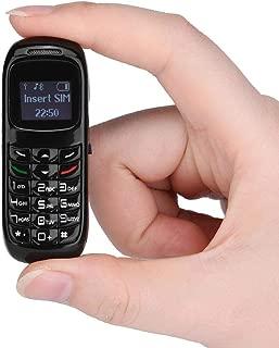 ミニ携帯電話 VBESTLIFE 耳掛け式 メッセージ MP3プレーヤー ワイヤレス接続 ポータブル 軽量 超小型携帯電話機 バックアップ電話 IOS/Android用対応(ブラック)