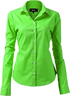 lime green collared shirt