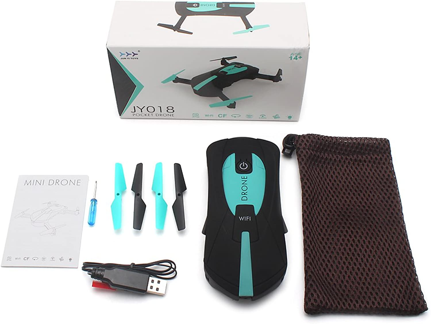 RC Drones with Camera,Thobu JY018 Mini Drone Foldable WiFi HD 0.3MP Camera Quadcopter Selfie RC Drones