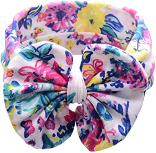 iNoDoZ Baby Girl Bohemian Elastic Bowknot Headband Colorful Print Hair Band Headdress Cute Headwear