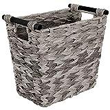 mDesign Cubo de basura rectangular – Cesta de almacenaje compacta para baño,...