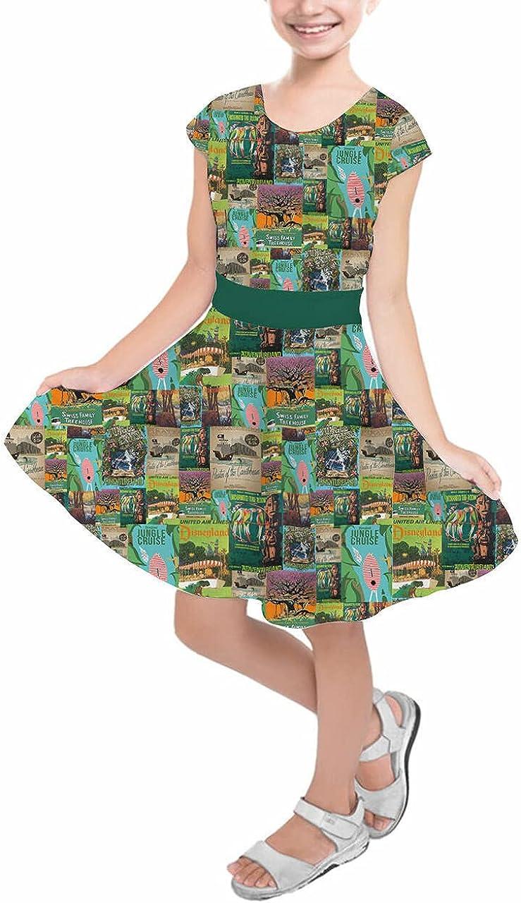 Girls Short Sleeve Skater Dress - Vintage Adventureland Sale Special Price Disney Al sold out. A