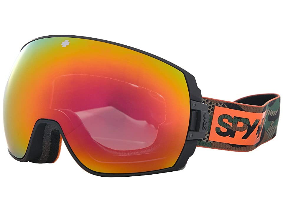 Spy Optic Legacy (Camo Happy Gray Green w/ Red Spectra+Happy Yellow w/ Lucid Green) Snow Goggles