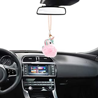 Mini-Factory Car Hanging Interior Decoration Rear View Mirror Accessories Car Charm Ornament for Girls - Pink Unicorn