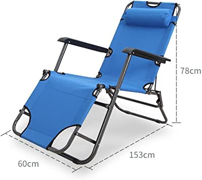 QIDI Deck Chair Collapsible Metal 6078153cm (Color : Style 1)