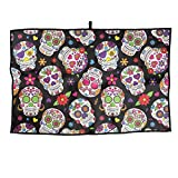 NVCBHk Dead Sugar Skull Golf Towel Sports Towel Player Towel 23.6x15 Inches