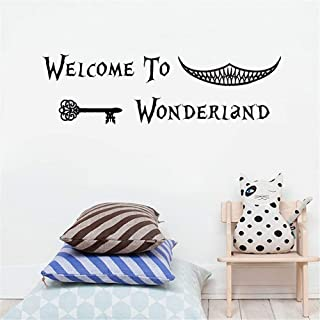 Alice in Wonderland Inspired Welcome to Wonderland Vinyl Wall Sticker Kids Bedroom Art Wall Stickers