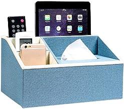 Baskets & Bins Remote Control Storage Multi-Purpose Drawer Box Home Living Room Blue Tissue Box Cute Coffee Table Nordic S...