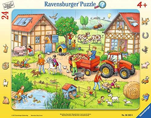 Ravensburger Kinderpuzzle 06582 - Mein kleiner Bauernhof - Rahmenpuzzle