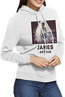 Women Hoodie Athletic James Arthur Adult Pullover White XXL