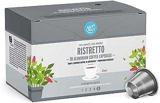 comprar comparacion Marca Amazon - Happy Belly Ristretto Café UTZ molido de tueste natural en cápsulas de aluminio compatibles con Nespresso, ...