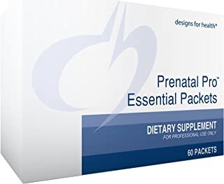 Designs for Health Prenatal Pro Essential Packets - Daily Vitamin Packs with Omega 3 + TRAACS Minerals for Pregnancy, Lactation + Postnatal Support (60 Packets)