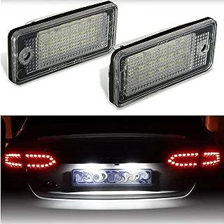 ARISMOTOR LED License Plate Tag Lights for Audi A3/S3/A4/S4/A5/A6/S6/A8/S8/Q7/RS4 (6000K Xenon White, Pack of 2)
