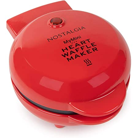 Nostalgia MyMini Heart shaped waffle maker personal hash browns Valentines Gift compact size