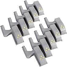 Led-kastverlichting, universeel, voor scharnieren, voor moderne keukens, lampdecoratie, 10 stuks warm wit