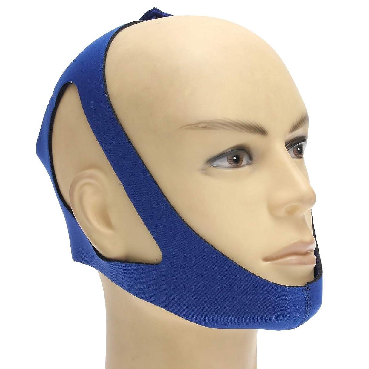 腹部楽観弁護人NOTE 抗いびきヘッドバンドいびきベルト停止いびき顎サポートストラップブレースデバイス睡眠マスクヘルスケア睡眠ツール用女性男