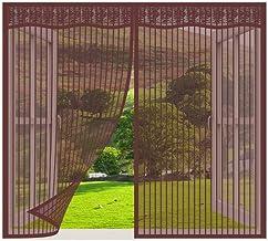 Vliegengaas voor ramen, Bruin_150x230cm, magnetisch vliegengaas voor deur, zelfdichtende magnetische hordeur, insectengaas...