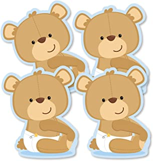 Baby Boy Teddy Bear - Decorations DIY Baby Shower Party Essentials - Set of 20