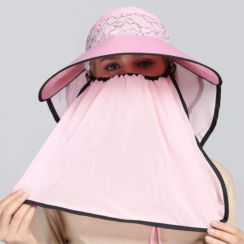Beach Hat Woman Hat Summer Outdoor Cycling Cap Visor Face Cap Sun Cap Pink Summer Sun Hat