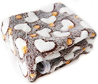 ISABELLA FITZGERALD Pet Blanket for Dog and Cat, Warm Fluffy Fleece Dogs Cats Blankets Durable Soft Grey Sleeping Bed Cover with Bone Print for Kitten Puppy