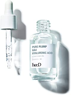 FaceD - Pure Plump, Siero con Acido Ialuronico HA4 a Effetto Rassodante Immediato, 30 ml