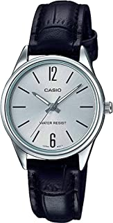 Casio Women's Dial Leather Band Watch - LTP-V005L-7BUDF