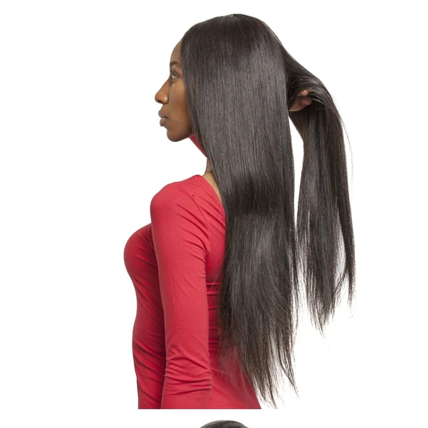 報奨金テストおとなしいKoloeplf 女性 耐熱性 28inch 長い ウィッグ 220g(ブラック/ダークブラウン/ライト ブラウン) (Color : ブラック)