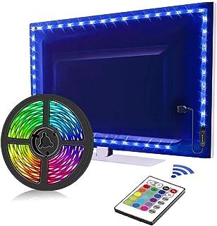 TV LED Backlights, LED Strip lights 6.56ft for TV 46-60 inch, LED Rope Lights for Bedroom with Remote, 16 Color Changing 5...