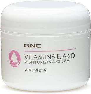 GNC Vitamins E, A D Moisturizing Cream, 2 ozs