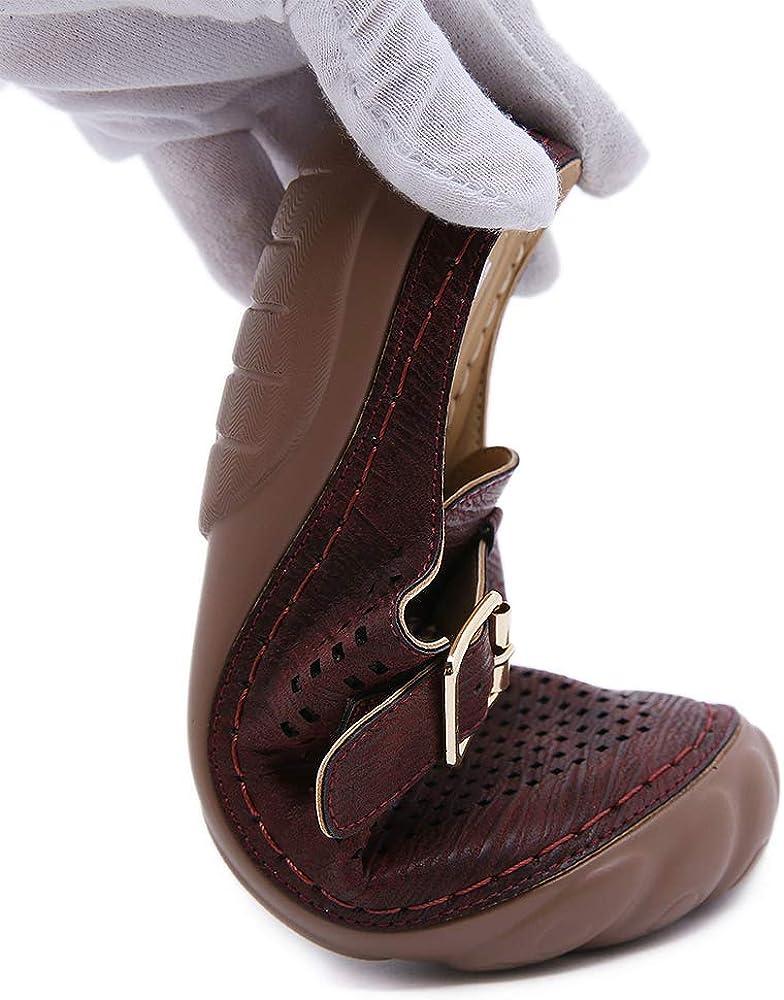 ZAPZEAL Sandals for Women Closed Toe Summer Casual Walking Sandals Anti-slip Loafer Flat Sandal Low Heel Outdoor Walking Shoes Slip On Slides Narrow, Size 6.5-12
