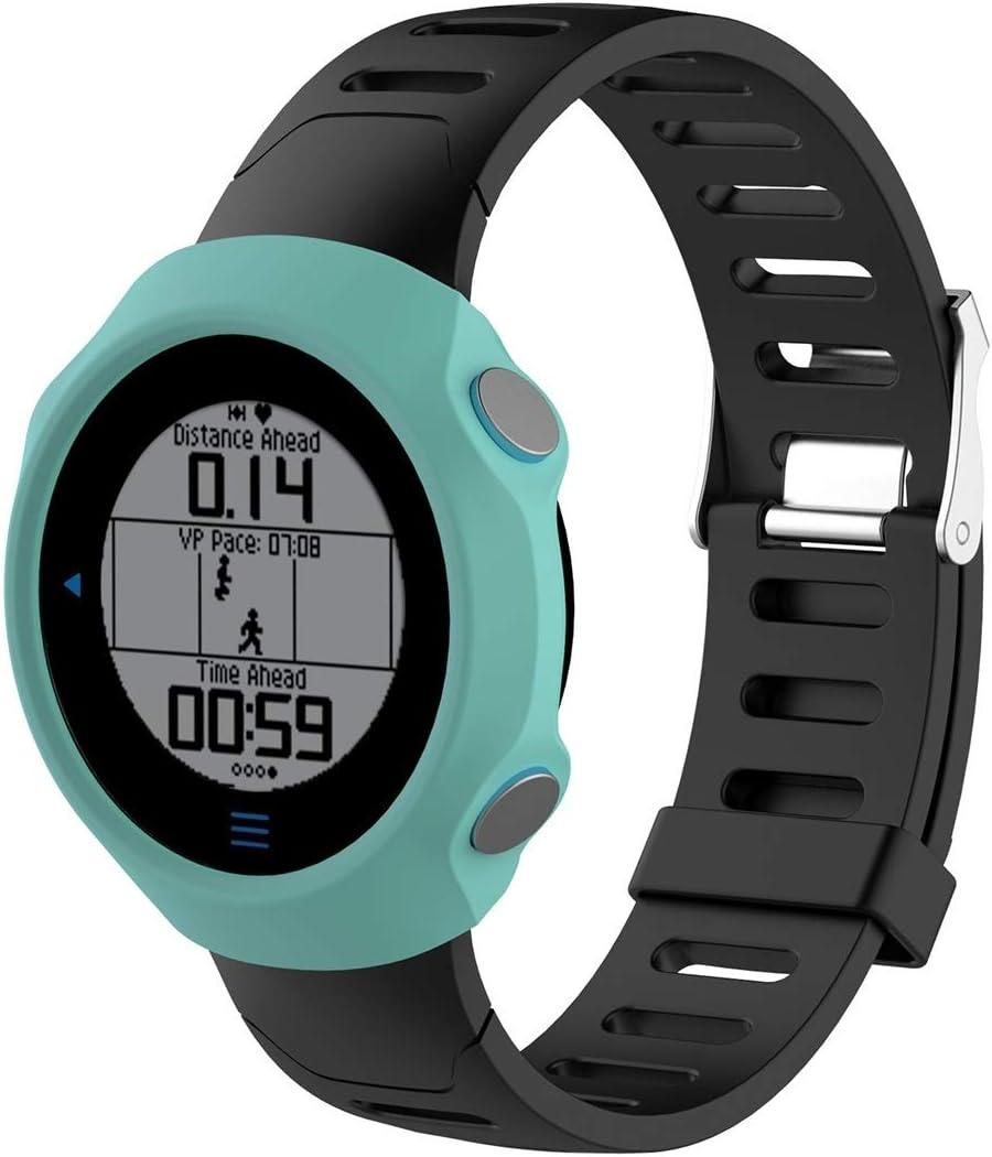 WATCHCASE/Funda Protectora de Silicona de Reloj Inteligente para Garmin Forerunner 610, La decoración de la Moda Protege el Marco del re (Color : Green)