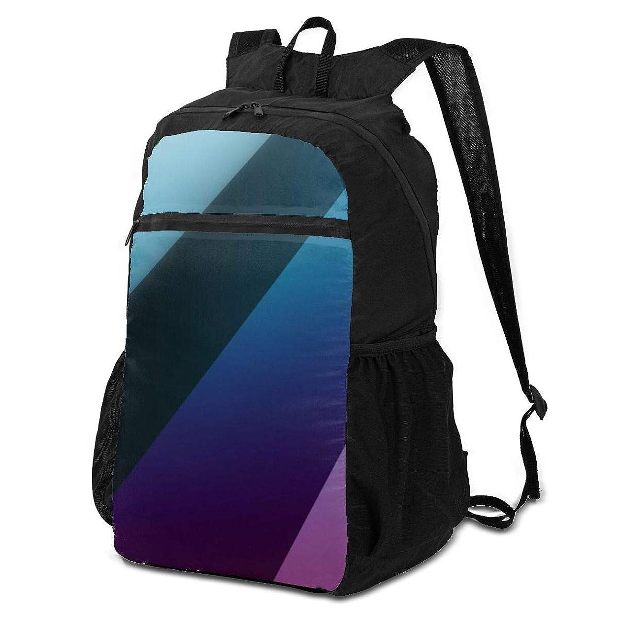 ブルジョンジャケット余暇登山リュック ザック 抽象芸術の単純な線 バックパック 軽量 防水 通勤 小型旅行 折りたたみ式キャンプ アウトドアバッグ
