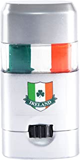 St. Patrick's Day Ireland Tri Colour Face Paint, Comes in Silver Container