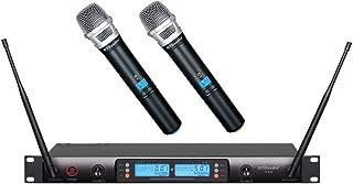 GTD Audio 2x100 Selectable Channel UHF Wireless Hand-held Microphone Karaoke Mic System 622 (Hand held mics)