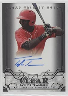 Taylor Trammell (Baseball Card) 2016 Leaf Trinity - Clear Autographs #CA-TT1