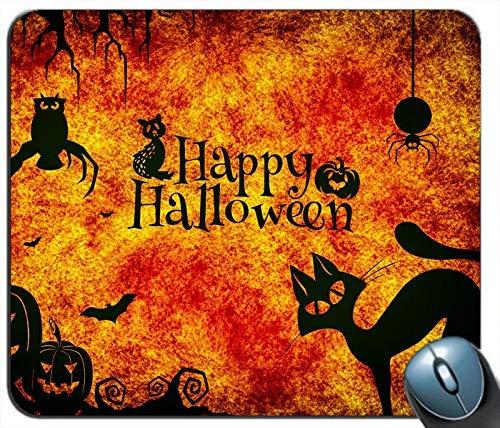 Happy Halloween Nacht Katzen Eule Spinne Kürbis personalisierte Rechteck Maus Pad Maus Matte