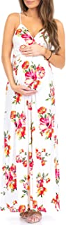 Women's Wrap Ruched Maternity Dress