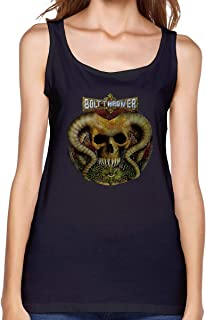 DoohcwBDJ Bolt Thrower Spearhead Women Summer Soft Tank Top Solid Color Round Neck Sexy Sleeveless Graphic Printing Tops
