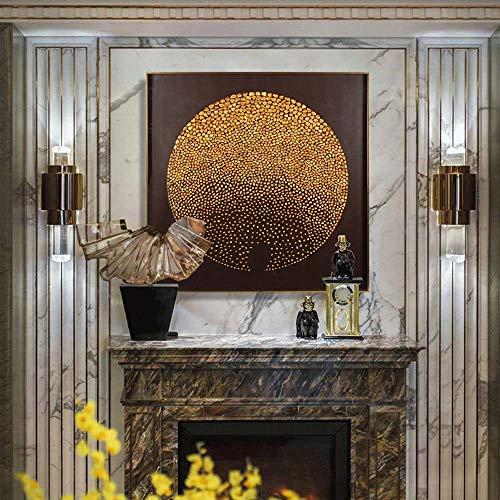 Stella Fella 60 x 60 cm Decoración moderna china del hogar pintura puerta entrada Pinturas Showroom Nuevas pinturas chinas tipo piedra dorada (color: A)