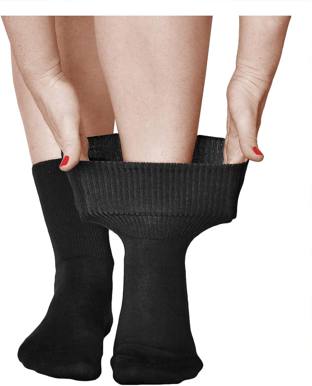 vitsocks Chaussette extra large non comprimante Femme chevilles gonfl/ées 3 PAIRES