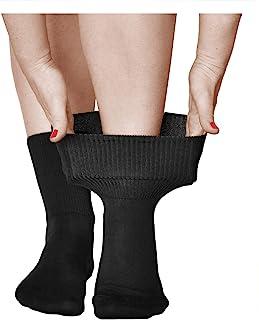 Calcetines Extra Anchos No Aprieten Mujer (3 PARES) Buenos para Circulación