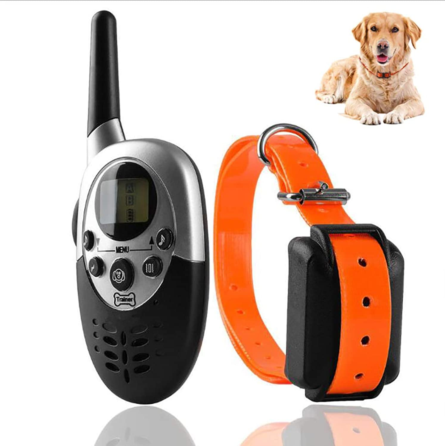 Dog Training Collar,1000M Professional Remote Control Waterproof and Rechargeable Dog Training Collar with Remote Control, Shock Vibration   Light Sound 4 Functions