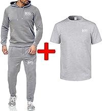 Mens Tracksuit Set Jogging Bottoms Hoodies Zip Trousers Gym Sports Suit Sets Joggers Pants,b,L