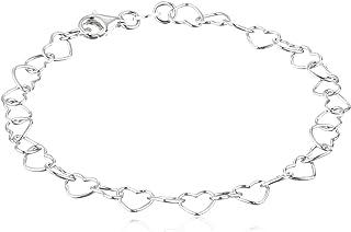 دستبند نقره ای پیوند قلب 5.3 میلی متری Rolo