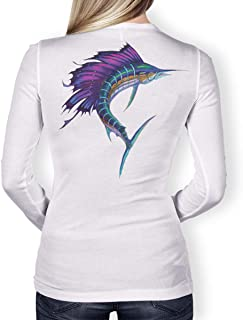 Southern Fin Apparel Womens Performance Fishing Shirt Girls Ladies Long Sleeve