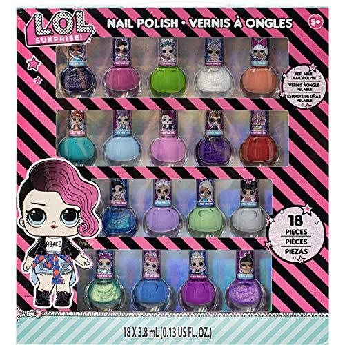 Frozen - Juego de 18 esmaltes de uñas no tóxicos (LOL Surprise)