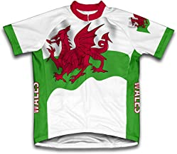 ScudoPro Wales Flag Short Sleeve Cycling Jersey for Men
