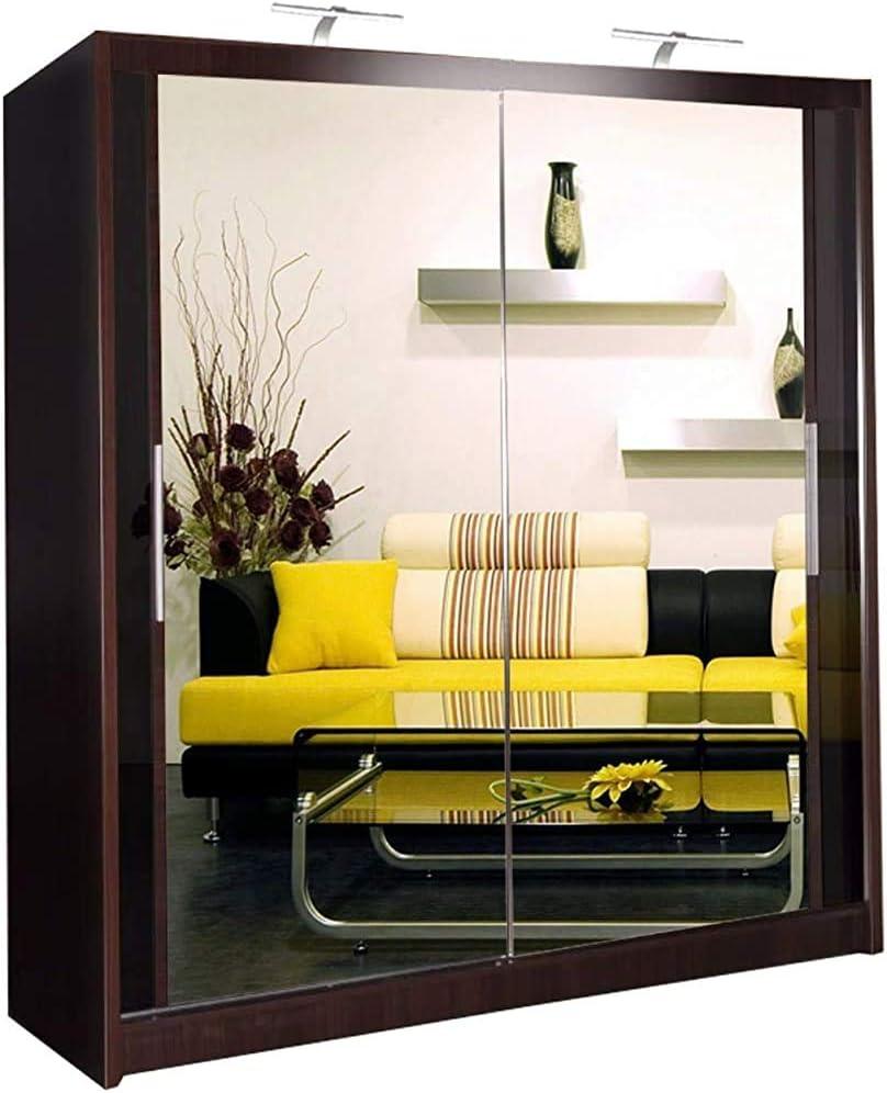 203 centimetri//specchio armadio scorrevole 2 o 3,A-90 cm 120 CM 150 cm con LED 150 centimetri 180 CM 90 centimetri